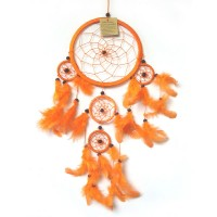 Medium DREAM CATCHER - Orange