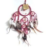 Mini Dream Catcher SUEDE - Pink