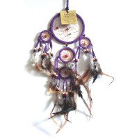 Mini Dream Catcher SUEDE - Purple