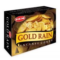 Hem Incense Cones - GOLD RAIN