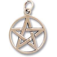 Bronze Pendant - PENTAGRAM Five Pointed Star #050