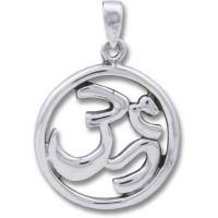 Sterling Silver Pendant - OMKAR Circle