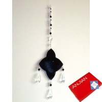 Light Catcher - Black Diamond with Pearls and 3 Crystals