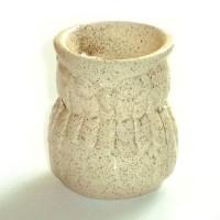 Small Oil Burner - Owl - Cream