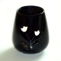 Small Oil Burner - Rose - Black