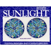 Decal / Window Sticker - Sunlight WILDFLOWER GARDEN