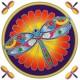Decal / Window Sticker - Sunseal DRAGONFLY MANDALA