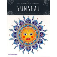 Decal / Window Sticker - Sunseal GLODEN SUN MANDALA