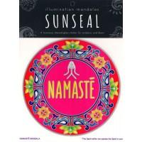 Decal / Window Sticker - Sunseal NAMASTE MANDALA