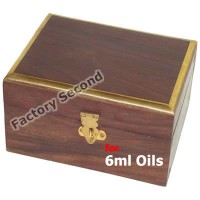 Essential Oil Wooden Storage Box for 6ml bottles x 6 ** Imperfect **