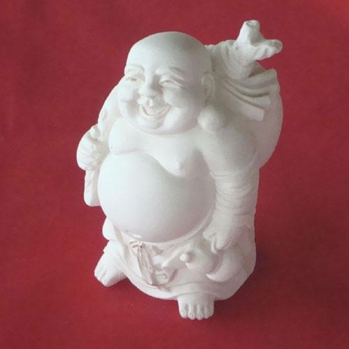 Laughing Buddha Standing with Money Sack