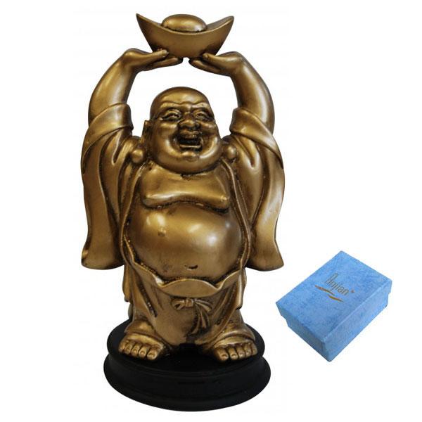 Standing Buddha Statue Holding Ingot