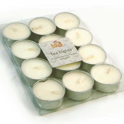 Soy Wax TEA LIGHT Candles - UNSCENTED