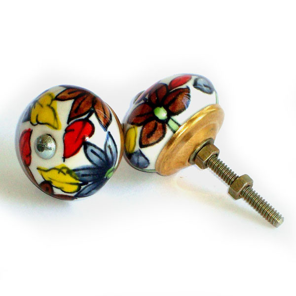 Ceramic Door Knob - LARGE - Design [B]