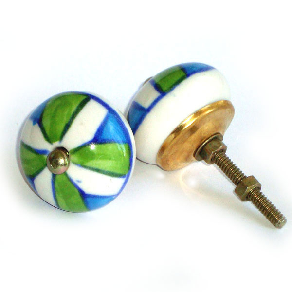 Ceramic Door Knob - LARGE - Design [D]