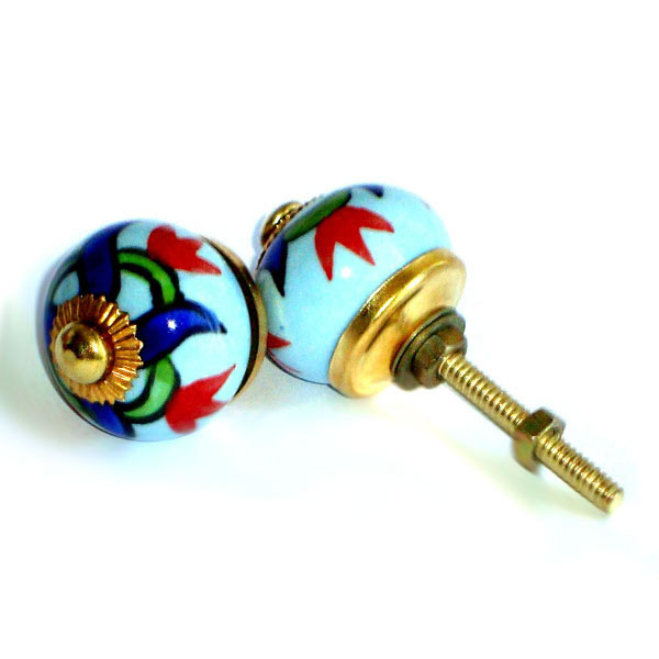 Ceramic Door Knob - SMALL - Design [B]