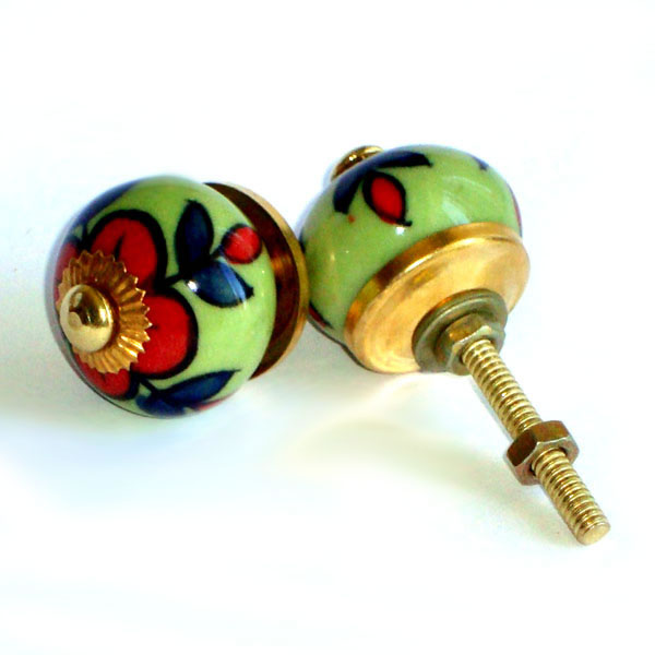 Ceramic Door Knob - SMALL - Design [C]