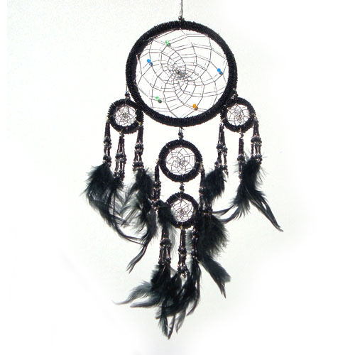 Medium Dream Catcher Beaded Black MagicEssenceau Australia Inspiration All About Dream Catchers