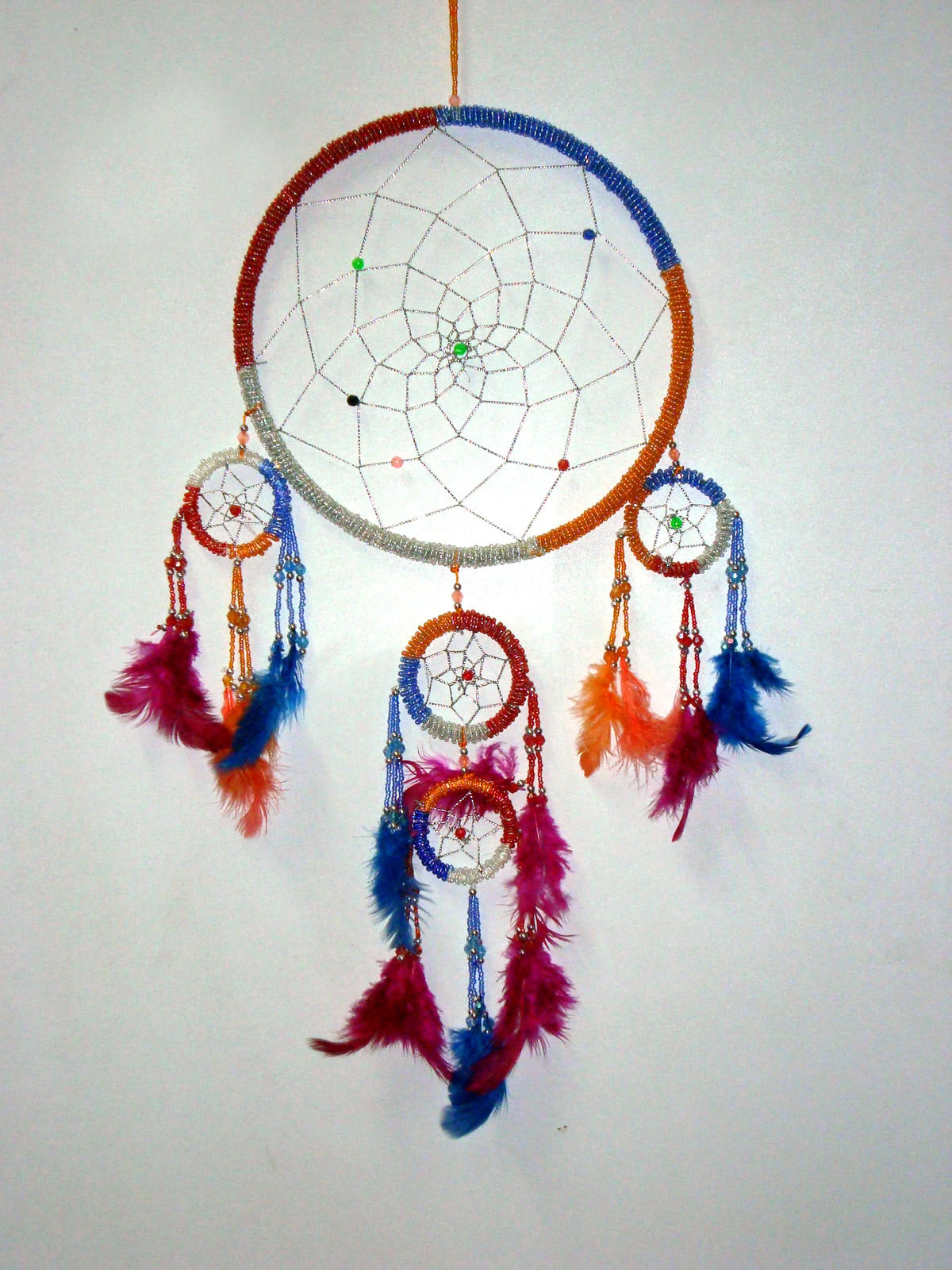 Large Dream Catcher - BEADED Rainbow