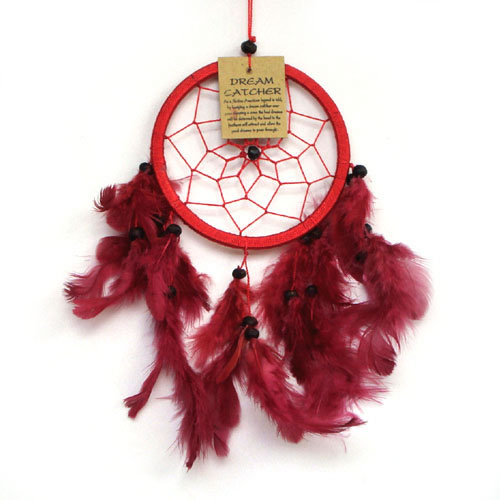 Small Dream Catcher ONE RING - Red