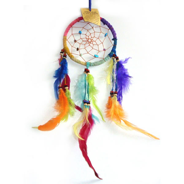 Small Dream Catcher - SUEDE Rainbow