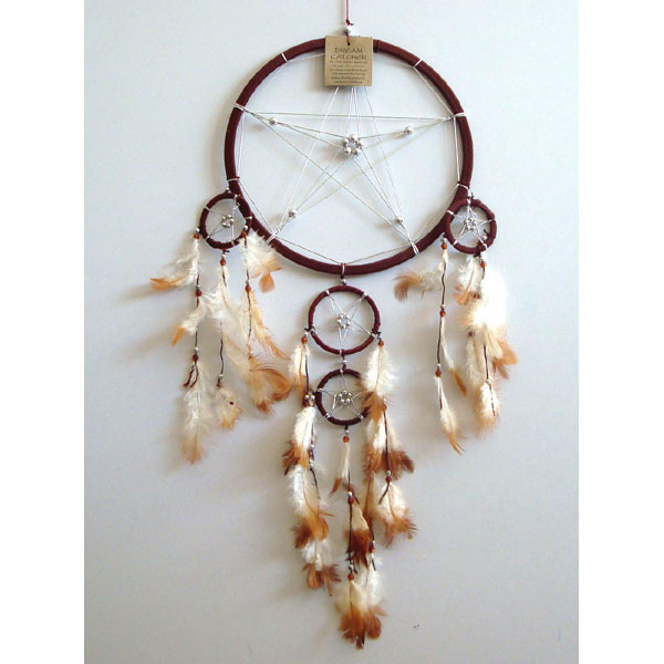 Large Dream Catcher - STAR Brown