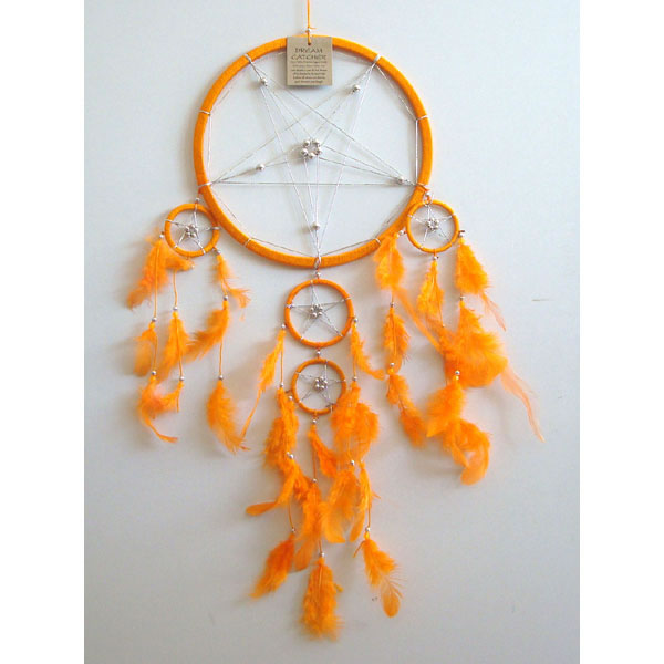 Large Dream Catcher - STAR Orange