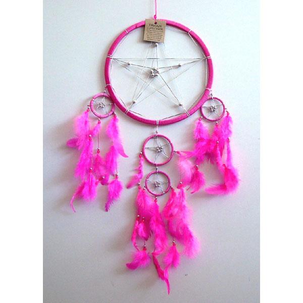 Large Dream Catcher - STAR Pink