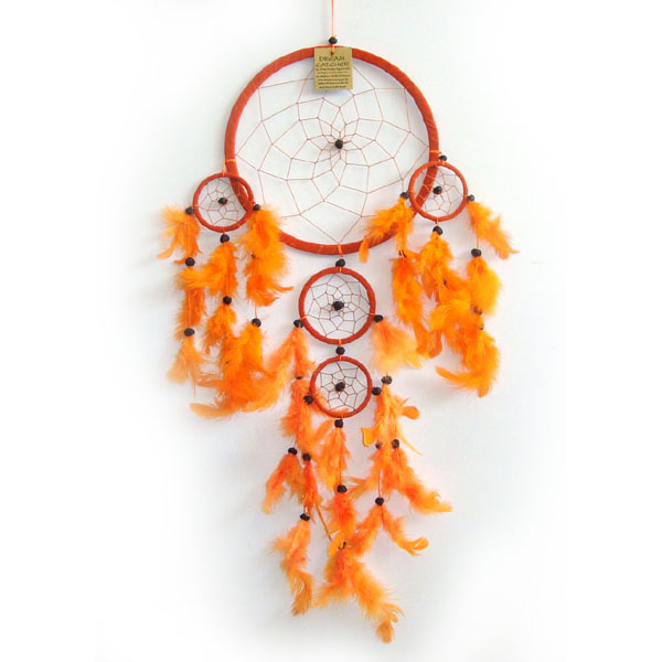 Large Dream Catcher - Suede ORANGE