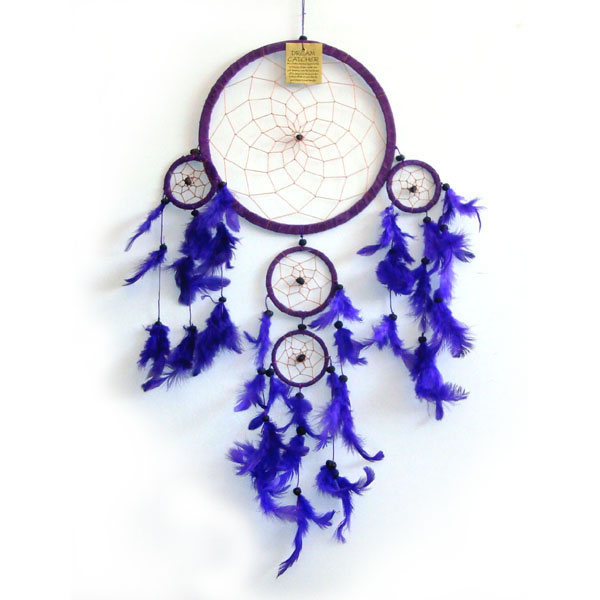 Large Dream Catcher - Suede PURPLE
