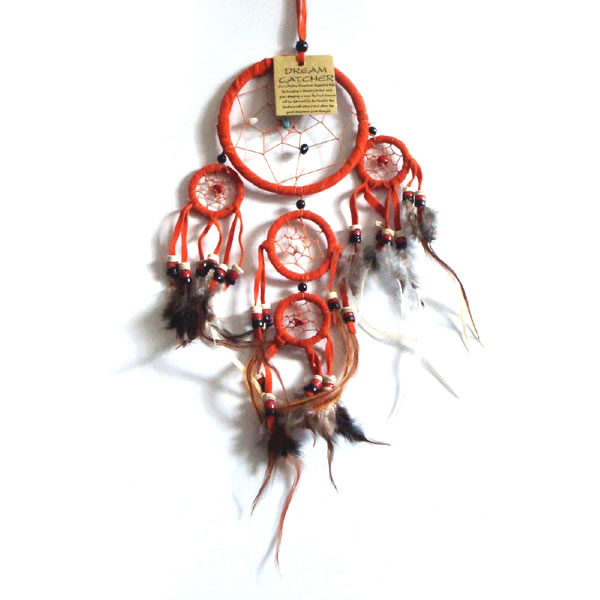 Mini Dream Catcher SUEDE - Orange