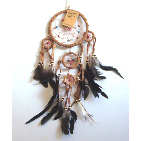 Small SUEDE DREAM CATCHER - Tan