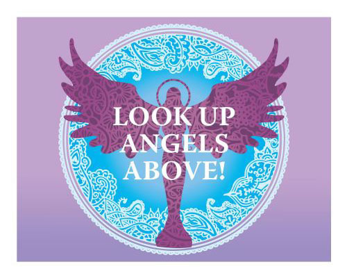 Inspirational Fridge Magnet - ANGELS ABOVE