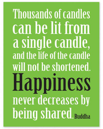 Inspirational Fridge Magnet - CANDLES HAPPINESS