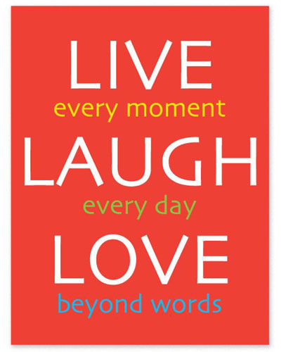 Inspirational Fridge Magnet - LIVE LAUGH LOVE