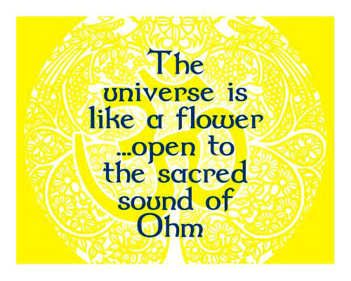 Inspirational Fridge Magnet - SACRED SOUND of OHM