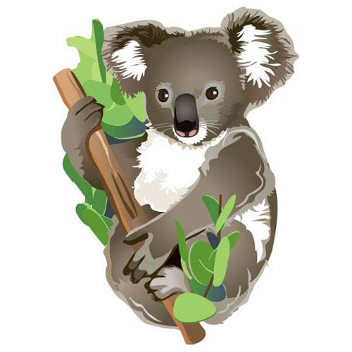 Fridge Magnet - KOALA in TREE