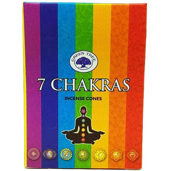 Green Tree Incense Cones - 7 CHAKRAS