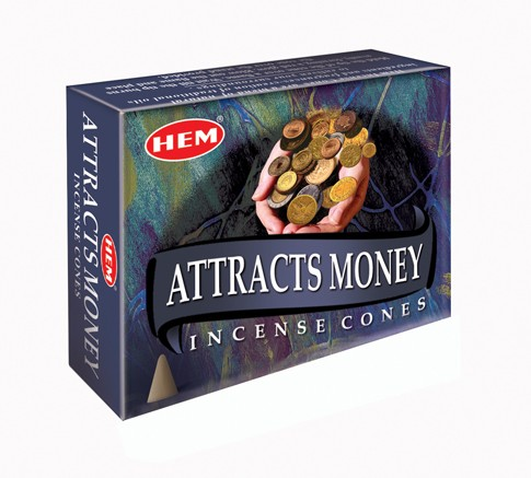 Hem Incense Cones - ATTRACTS MONEY
