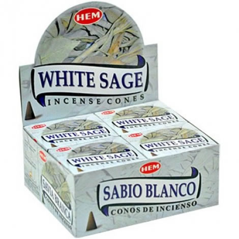 Hem Incense Cones - WHITE SAGE