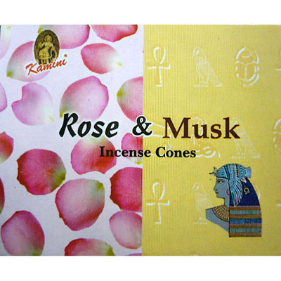 Kamini Incense Cones - ROSE & MUSK