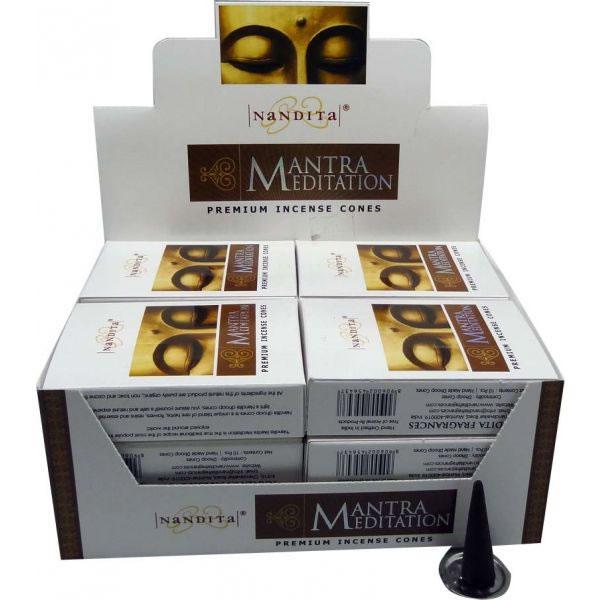 Nandita Incense Cones - MANTRA MEDITATION Organic