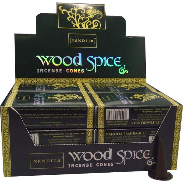 Nandita Incense Cones - WOOD SPICE Organic