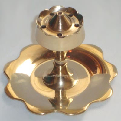 Incense Holder Burner - Brass Lotus