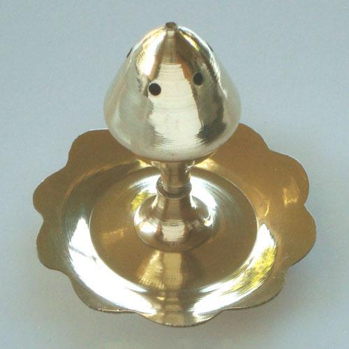 Incense Holder Burner - Brass Lotus Bud