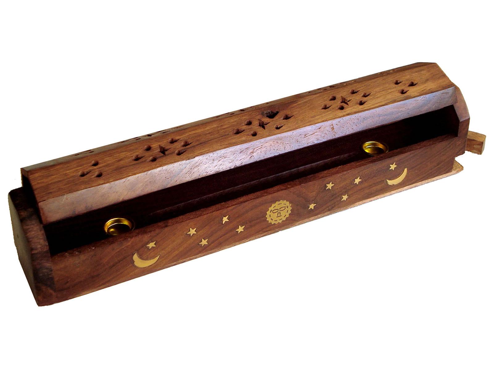 Incense Holder Box Burner - SUN, STARS, MOON