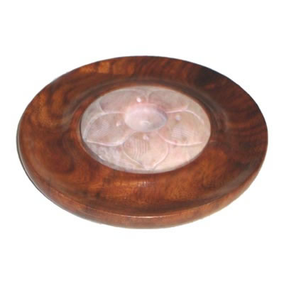 Wooden Incense and Cone Burner