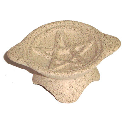 Ceramic Charcoal Burner - Pentagram Design