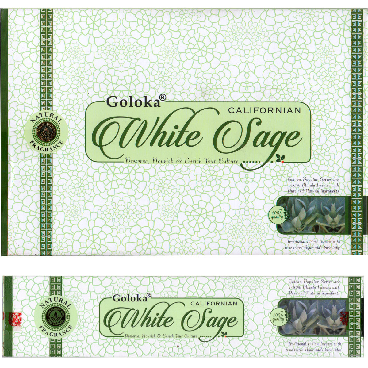 Goloka Incense - WHITE SAGE