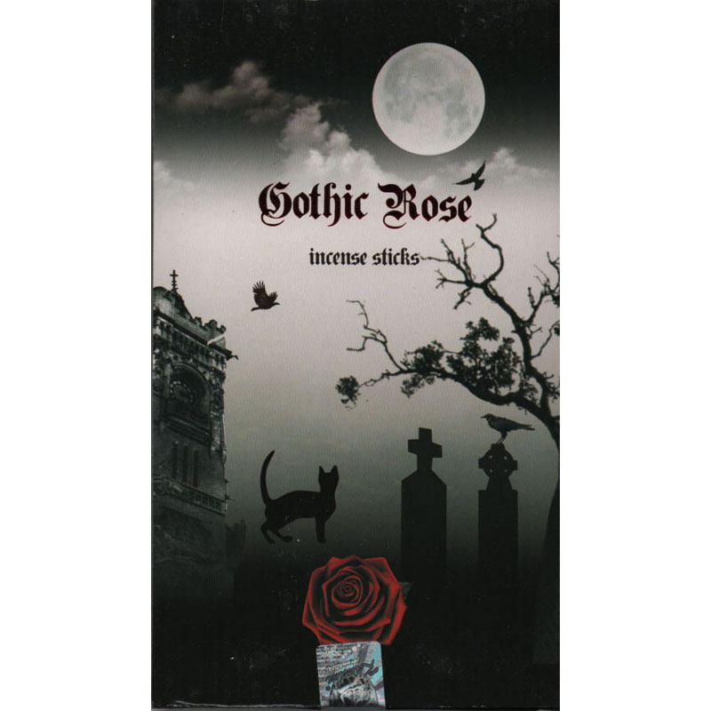 Kamini Incense Sticks - GOTHIC ROSE - 15g Flat Box